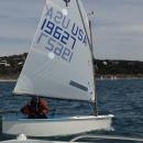 Nicolas' first Red-White-Blue regatta!